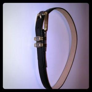 Brighton black leather belt
